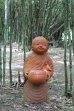 Doll clay monk. Stock Photos