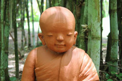 Doll clay monk. Stock Image