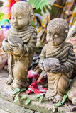 Doll clay monk used in Thailand Stock Photos