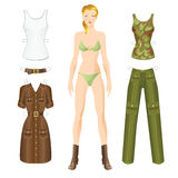 Doll with clothes. Royalty Free Stock Photos
