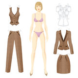 Doll with clothes. Stock Images