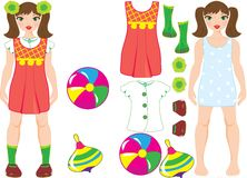 Doll with clothes vector mosaic Royalty Free Stock Photo