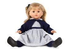 Doll dat op wit wordt geïsoleerdg Royalty-vrije Stock Fotografie
