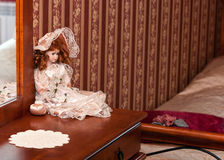 Doll decoration in bedroom Royalty Free Stock Image