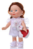 Doll with easter rabbit Stock Image