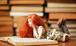 Doll en boek royalty-vrije stock foto's