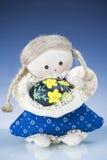 Doll en het Ei van Pasen Royalty-vrije Stock Fotografie
