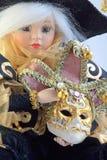Doll en masker Royalty-vrije Stock Afbeeldingen