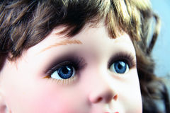 Doll eye. Doll with pair blue eyes Stock Image