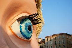 Doll eye. In Verona Italy (theater stage stock images
