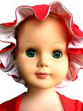 Doll Face 1. Photo of pretty doll face with red hat. era 1960's Royalty Free Stock Photos