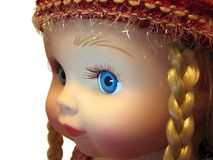 Doll face. The artificial children's face (doll Stock Photo