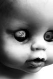 Doll Face. Close up of an old dirty doll Royalty Free Stock Image