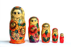 doll family isolated matryoshka russian Стоковые Изображения