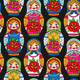 doll family isolated matryoshka russian 库存图片