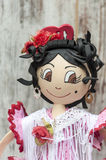 Doll with flamenco dress Stock Photos