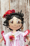 Doll with flamenco dress Stock Images