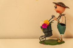 Doll. With flowers for abstract background Royalty Free Stock Images