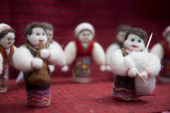 Doll and folk dances Royalty Free Stock Image