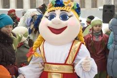 Doll in a folk russian dress Royalty Free Stock Photos