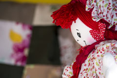 Doll. A friendly handmade cloth doll Royalty Free Stock Images