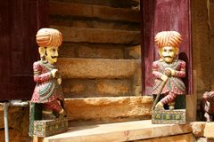Doll guards, Jaisalmer, Rajastan Stock Image