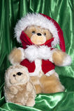 Doll with hat of santa claus and gifts Royalty Free Stock Image