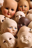 Doll heads Stock Photo