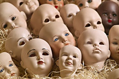 Doll heads Stock Photos