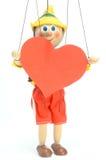 Doll houdt hart Royalty-vrije Stock Foto's