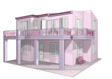 Pink Doll House Design Stock Photography