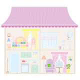 Doll House. Dollhouse pink with various convenient Royalty Free Stock Photos