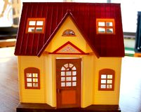 Doll house, the concept of selling real estate royalty free stock photo