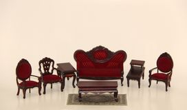 Doll house furniture living room Royalty Free Stock Images