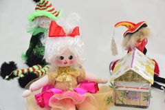 Doll with house Royalty Free Stock Photos