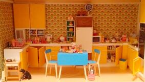 doll house kitchen Stock Image