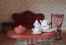 Doll house - Living room Royalty Free Stock Photography