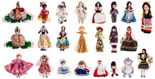 Doll inzameling Royalty-vrije Stock Afbeelding