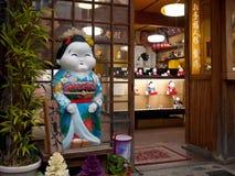 Doll in Japanse winkel Stock Afbeelding