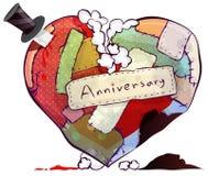Doll of kussen het symbool van het hoofdkussenhart vertegenwoordigt eeuwige liefde vector illustratie