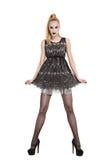 Doll like fashion model Stock Images