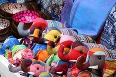 Doll made of fabric be elephant shape. stock photography