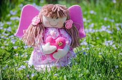 Doll made by hand on a background of nature Stock Images