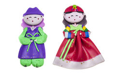 Doll Male and female Korea traditional souvenir Royalty Free Stock Photography