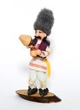 Doll man in balkanian traditional clothes Stock Photos