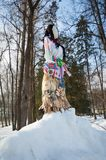 Doll Maslenitsa on a hill Stock Photography