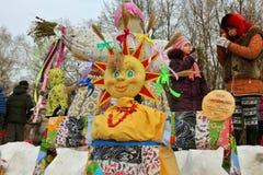 Doll Maslyonushka made by children Royalty Free Stock Image