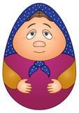 Doll matreshka. Russian traditional national wooden doll Royalty Free Stock Photos