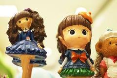Doll Meisje voor decoratie royalty-vrije stock afbeeldingen