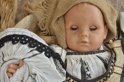 Doll met Gesloten Ogen stock foto's